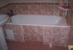 Технология укладки  в ванной