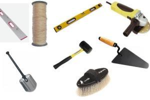 Инструменты для укладки тротуарной