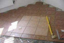 Укладка плитки под углом