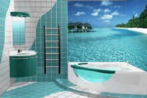 Плитка для ванной комнаты 3д
