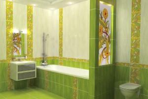 Зеленая плитка для ванной / источник