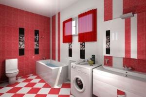 Керамическая плитка «Сакура» для ванной с фото