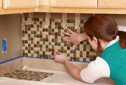 Как выложить плиткой фартук